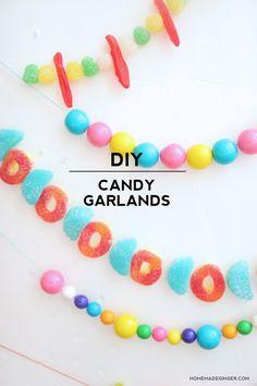 How to Make a Candy Garland - diycandy.com