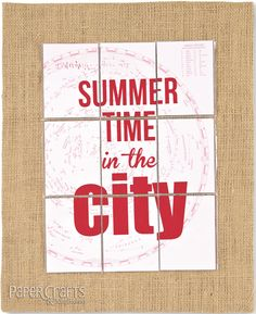 Make a summer wall hanging with activities to select for the week; Kelly Griglione - Paper Crafts & Scrapbooking Photo Pocket Scrapbooking: paper crafting, home decor