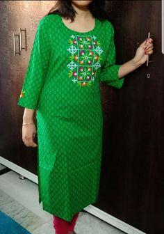 Embroidery On Kurtis, Kurti Embroidery Design, Kutch Work, Short Sleeve Dresses, Dresses With Sleeves, Fashion, Moda, Sleeve Dresses, Fashion Styles