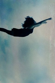 Off a cliff. She took a leap and built her wings on the way down.