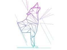 Dribbble - Geometric Wolf by Amanda Appiarius