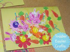 Toddler easter craft ideas - Easy easter crafts for kids! Read more: http://www.sparklesandstretchmarks.com/2015/03/toddler-easter-crafting.html