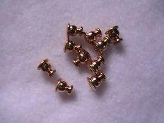 Gold Earring Post Bullet Backs 10pc DIY Jewelry by dragonflyridge, $4.00