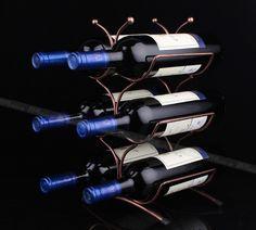 Wine Racks Holder Metal Bottle Rack Wine Coolers Holders Buckets Barware 6 wine