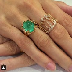 Emerald, 18kt rose gold, and Diamonds... Amazing by Lucifer