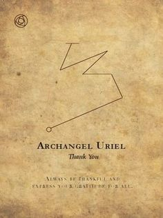 The Archangels oversee and guide Guardian Angels who are with us on earth. The most widely known Archangel Gabriel, Michael, Raphael, and Uriel. Angel Sigils, Angelic Symbols, Archangel Uriel, Angel Guide, Angel Prayers, Ange Demon, Angel Cards, Guardian Angels, Angels And Demons