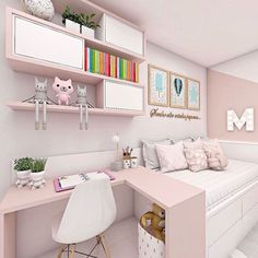 New decoration! Small comfortable and modern small room 💞 ——- New decoration ! Small comfortable and modern simple room 💞 interior . - My Website 2020 Room Design Bedroom, Girl Bedroom Designs, Home Room Design, Small Room Bedroom, Kids Room Design, Bedroom Decor, Double Bedroom, Cute Bedroom Ideas, Cute Room Decor
