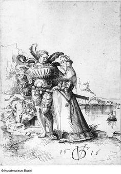 Urs Graf, Krieger und Dirne in Landschaft, 1516 (landscape with soldier and woman)