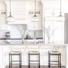 What a lovely white #kitchen Tyler. Simply gorgeous! Thanks for tagging our Metal Tray.  #homedecor