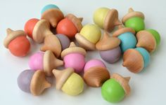 Wooden Sorting Acorns Montessori Learning Toy by BrightLifeToys