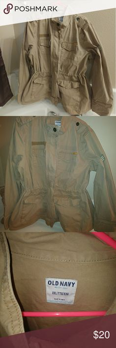 Old Navy Combat jacket XXL really cute jacket  looks good with jeans or tights purchase this a few years back and used it only a few times it has been stored in my closet jacket is still in great condition no stains or rips zipper works good like new. Old Navy Jackets & Coats
