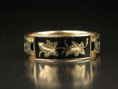 Unusual Antique Victorian Period Gold Ivy Leaves & Hair Mourning Ring by CJAntiquesLtd on Etsy https://www.etsy.com/listing/238210957/unusual-antique-victorian-period-gold