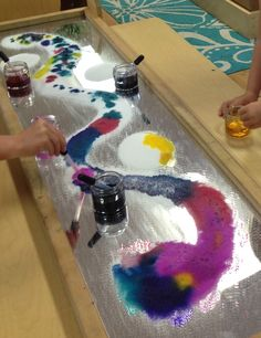 "Mirror, salt & water-colour at The Learning Center, Palo Alto, CA - shared by Paula Evans-Fitch ("",)"