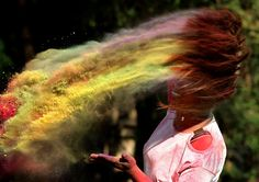 Holi: a festival of colours – in pictures Thriller, End Of Winter, Hindu Festivals, Color Powder, Double Take, Holi, Colorful Pictures, Her Hair, Illustration