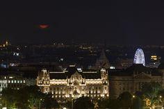 La Luna entre las nubes sobre Budapest, Hungría. 14 de julio de 2014 Crédito: György Soponyai