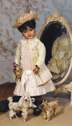 Brown German Bisque Doll By Handwerck