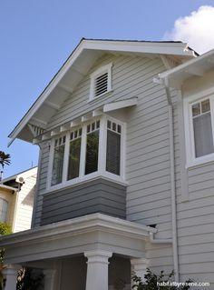 Main colour resene half ash, box window resene gauntlet, white quarter bianca