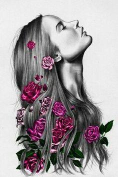 Portrait Drawing Fotos Para Portadas - - Página 3 - Wattpad - Read from the story Fotos Para Portadas by (Y. Girly Drawings, Pencil Art Drawings, Art Drawings Sketches, Art Pop, Murciano Art, Art Drawings Beautiful, Woman Sketch, Digital Art Girl, Portrait Art