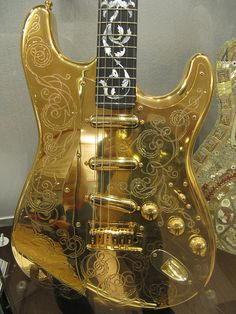 Custom Gold Fender Guitar