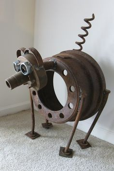 metal junk art - Google Search