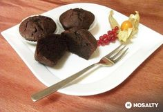 Olvadós belsejű brownie muffin | NOSALTY