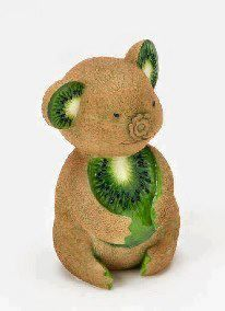 Kiwi koala. | Socialphy http://www.socialphy.com/posts/images-pics/17857/Fruit-Turned-Animal-Art_-30-Creative-Creations.html