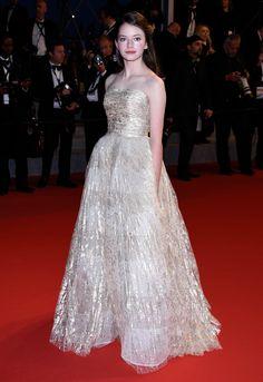 Mackenzie Foy wearing Oscar de la Renta - Cannes Film Festival 2015 | Harper's Bazaar