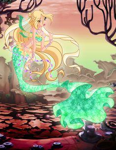 Daphne Mermaidix by on DeviantArt Mermaid Melody, Mermaid Art, Invitaciones My Little Pony, Daphne Winx, Winx Magic, Fairy Oak, Les Winx, Bloom Winx Club, Little Poni