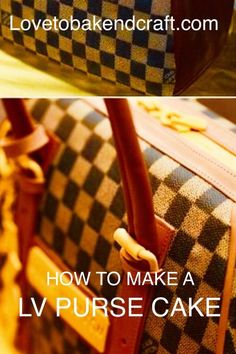 How to make a LV designer purse cake Handbag Cakes, Purse Cakes, Louis Vuitton Cake, Cake Pop Displays, Making Fondant, Cake Decorating For Beginners, Sweet 16 Birthday, 16th Birthday, Cake Illustration