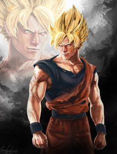 Super Saiyan Goku/Kakarot (SSJ1).
