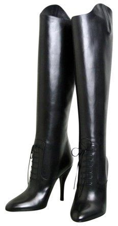 Gucci New Elizabeth High Heel Leather Riding It 38.5/ Us 8.5 304702 Black Boots on Sale, 55% Off | Boots & Booties on Sale