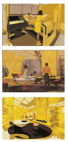"""Syd Mead, suspended Kitchen for Philips****If you're looking for more Sci Fi, Look out for Nathan Walsh's Dark Science Fiction Novel """"Pursuit of the Zodiacs."""" Launching Soon! PursuitoftheZodiacs.com****"""