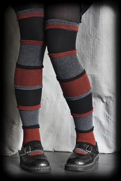 Dreamer Ruffle Striped OTK - There are wide stripes and thin ruffles creating this unique sock style. full of potential and fully convertible. Sexy Socks, Cute Socks, Thigh High Socks, Thigh Highs, Knee Highs, Unique Socks, Stocking Tights, Colorful Socks, Striped Socks