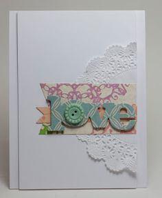 Homemade Cards by Erin: love