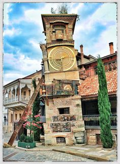 Time tower, Old Tbilisi, #‎Tbilisi‬  #Georgia
