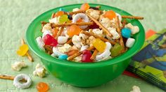 Power your kids up with this fun snack mix, sure to give them all the Booyakasha they need to be a Ninja!