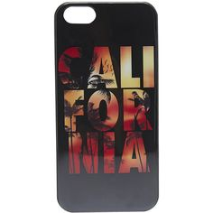 California Palms iPhone 5 Case ($6.99) ❤ liked on Polyvore featuring accessories, tech accessories, phone cases, phone, cases, iphone, black and wet seal