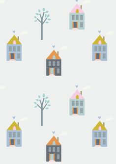 Playtime Paris | little cube, house, home, pattern, print, fun, graphic, kids, house, drawing, illustration