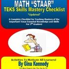 5TH GRADE MATH TEXAS TEKS MASTERY CHECKLIST!  UPDATED TEKS!