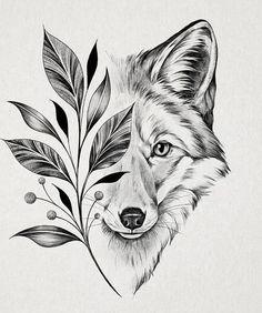 Art Drawings Sketches Simple, Pencil Art Drawings, Animal Drawings, Tattoo Drawings, Wolf Tattoos, Animal Tattoos, Neotraditional Tattoo, Wolf Tattoo Design, Tattoo Stencils