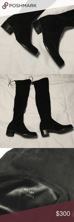 Stuart Weitzman OTK Boots Stunning OTKs by Stuart Weitzman!  Lace ups at the top and a classic wide heel for comfort when you're strutting your stuff!  Size 7.5 Stuart Weitzman Shoes Over the Knee Boots