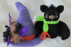 Ravelry: Cute Bat and Witch's Hat pattern by Teri Crews