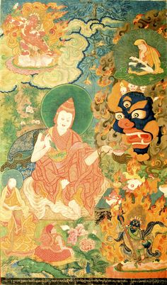 Important Thangka painting of Dorje Pal Tibet Circa 18th century
