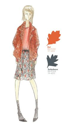 Lela Rose - PANTONE Color Koi - Pantone Fashion Color Report, Fall 2013
