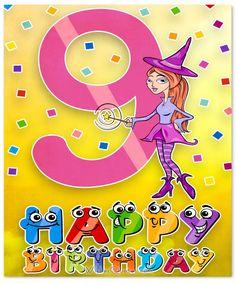 9th Birthday Card For Girl