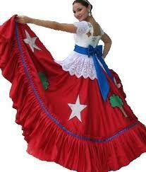 Vestido Tipico de Quintana Roo. México