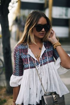 breezy bohemian summer top