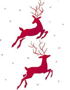 Large Reindeer Stencil