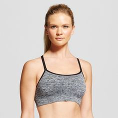 Women's Seamless Cami Sports Bra - C9 Champion, Size: Xxl, Ebony Heather