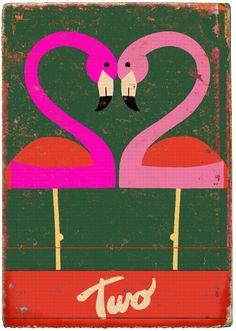 Where the Sidewalk Begins: Flamingos...